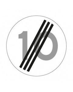 Verkeersbord A02(10), Einde maximum snelheid 10 km