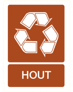 Pictogram Recycling hout