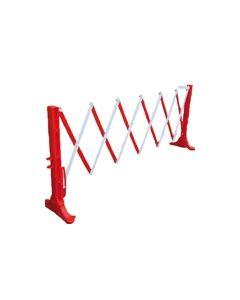 Schaarhek PE uittrekbaar tot 3,50 meter, kleur rood/wit