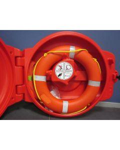 Kast voor reddingsboei inclusief boei 750 mm
