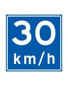 Verkeersbord A04(30), Advies snelheid 30 km