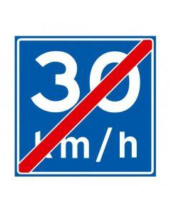 Verkeersbord A05(30), Einde adviessnelheid 30 km