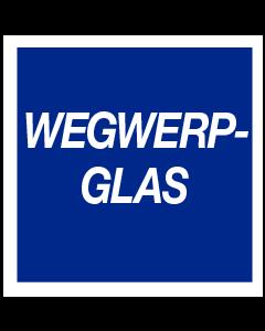 Wegwerp glas