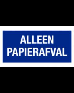 Alleen papierafval