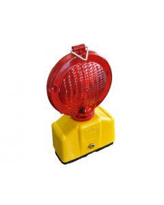 LED knipperlamp dubbelzijdige rode lens Ø 18 cm inclusief bevestigingsbeugel