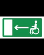 Pictogram Vluchtrichting mindervaliden naar links